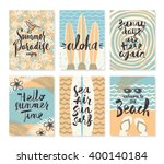 vector set of summer holidays... | Shutterstock .eps vector #400140184