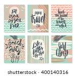 vector set of summer holidays... | Shutterstock .eps vector #400140316