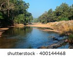 landscape with a river and... | Shutterstock . vector #400144468