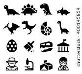 dinosaur   excavation icon | Shutterstock .eps vector #400145854