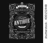 vintage frame design western... | Shutterstock .eps vector #400152448