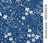 vector floral seamless pattern ...   Shutterstock .eps vector #400156576