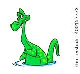 Stock photo loch ness monster cartoon illustration animal character 400157773