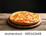 Delicious Pizza With Vegetable...