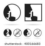 silence set icon | Shutterstock .eps vector #400166683