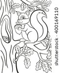 Coloring Page. Little Cute...
