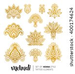 vector illustration of golden... | Shutterstock .eps vector #400174624
