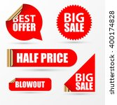 sale stickers set. modern red... | Shutterstock .eps vector #400174828