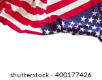 american flag border isolated... | Shutterstock . vector #400177426