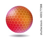abstract polygonal sphere for...   Shutterstock .eps vector #400177588