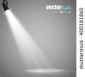vector spotlight. light effect | Shutterstock .eps vector #400181860