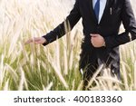 Businessman Standing In A Fiel...