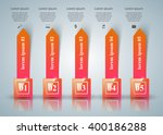 3d infographic design template... | Shutterstock .eps vector #400186288