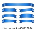 ribbon banners set. sign blank... | Shutterstock .eps vector #400193854
