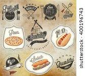 bon appetit  enjoy your meal ... | Shutterstock .eps vector #400196743