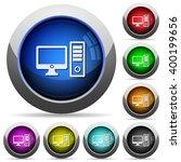 set of round glossy desktop...