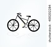 bicycle icon isolated in black...