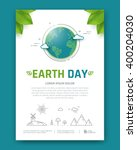 earth day brochure or poster... | Shutterstock .eps vector #400204030