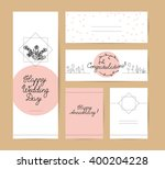 collection of vector flat hand... | Shutterstock .eps vector #400204228
