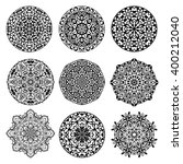 ornamental monochrome set with... | Shutterstock .eps vector #400212040