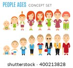 set of people age icon. vector... | Shutterstock .eps vector #400213828