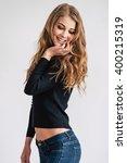 flirty and gorgeous. beautiful... | Shutterstock . vector #400215319