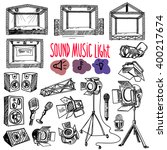sound  music and light vector... | Shutterstock .eps vector #400217674