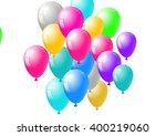 festive blank card template... | Shutterstock .eps vector #400219060