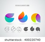 vector abstract 3d drop logo... | Shutterstock .eps vector #400220740