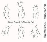 nude female silhouette woman... | Shutterstock .eps vector #400226470