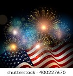united states flag. fireworks... | Shutterstock .eps vector #400227670