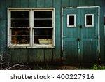 Old Door And Windows Of Blue...
