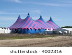 purple and blue circus tent | Shutterstock . vector #4002316