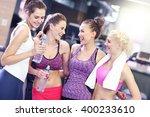 picture of friends having break ... | Shutterstock . vector #400233610