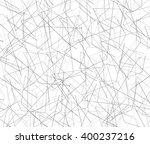 entangled texture of thin lines.... | Shutterstock .eps vector #400237216