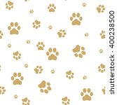 Seamless Paw  Web Icon. Vector...