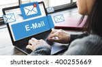 email inbox electronic... | Shutterstock . vector #400255669