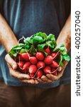 organic vegetables. farmers... | Shutterstock . vector #400257040