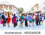 abstract blur people in outdoor ... | Shutterstock . vector #400260628