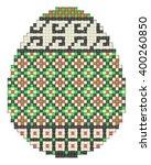 easter egg  ethnic pattern | Shutterstock .eps vector #400260850