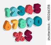 set of vector numbers  from 1... | Shutterstock .eps vector #400266358