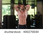 portrait of a physically fit... | Shutterstock . vector #400270030