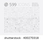 large selection of simple icons ... | Shutterstock .eps vector #400270318