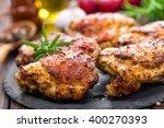 chicken thighs | Shutterstock . vector #400270393