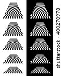 set of checkered planes in... | Shutterstock .eps vector #400270978