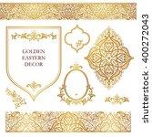 vector set of ornate frames ...   Shutterstock .eps vector #400272043