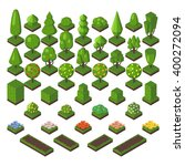 Green Isometric Tree And Garde...