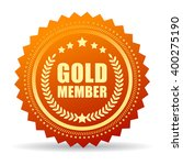 gold member seal icon vector... | Shutterstock .eps vector #400275190