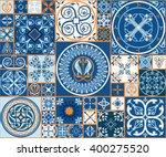 vector tiles. moroccan tiles... | Shutterstock .eps vector #400275520