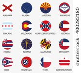 usa states flags | Shutterstock .eps vector #400282180